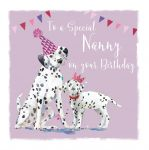 Birthday Card - Nanny Nanna - Dalmatian Dog - The Wildlife Ling Design