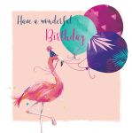 Birthday Card - Flamingo - The Wildlife Ling Design