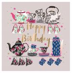 Birthday Card - Female Teapot Tea Cups - Talking Pictures