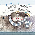 Christmas Card - Mum & Dad Sheep - Sparkle - Alex Clark