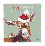 Christmas Card - Donkey - The Wildlife Ling Design