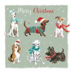 Christmas Card - Woofing Xmas Dogs - The Wildlife Ling Design