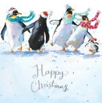 Charity Christmas Card Pack - 6 Cards Merry Dance Penguins - Ling Design