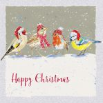 Charity Christmas Card Pack - 6 Cards Tweet Tweet Birds - Ling Design