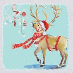 Charity Christmas Card Pack - 6 Cards Xmas Reindeer - Ling Design