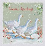 Charity Christmas Card Pack - 6 Cards Geese in The Snow - Ling Design