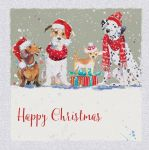 Charity Christmas Card - Its Party Time Dogs - Ling Design