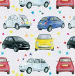 Fiat 500 Car Wrapping Paper Sheets & Tags - Arty Penguin