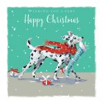 Christmas Card - Dalmatian Dog - Special Delivery - The Wildlife Ling Design