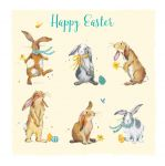 Easter Card - Easter Bunnies Rabbits - The Wildlife Ling Design