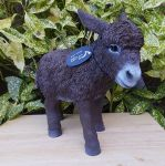 Donkey - Brown Standing Lifelike Garden Ornament Size D - Indoor or Outdoor - Real Life Farm