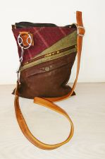 Wilkie Snaffle Bit Tweed & Suede Tan Handbag - Joey D
