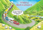Retirement Card - Caravan - Humour Rainbow Ling Design