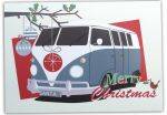 Christmas Card Pack - 10 Cards 2 Designs Retro VW Campervan - Arty Penguin