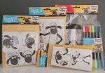 Shaun The Sheep DIY Creative Kit - 5 Pieces - Colour In