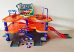 Garage City Parking Playset with 3 diecast cars & helicopter