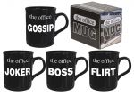 The Office Mug- Set of 6 - Boss Flirt Chatterbox Joker