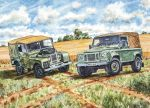 Birthday Card - Landrover Defender - First & last - Country Cards