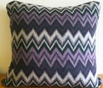 Retro Purple & Black Zig Zag Cushion Cover 40cm x 40cm