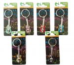 Guitar Metal Keyring - Set of 6 - All Colours