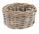 Grey Rattan Chunky Storage Basket or Planter - Small