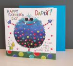 Fathers Day Card - Daddy From Little Monster - 3D Googly Eyes - Eye Eye