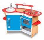 Melissa & Doug Cook's Corner Wooden Toy Kitchen Pretend Play