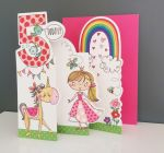 5th Birthday Card - Girl Kids - Princess - 3 Fold Glitter Die-cut - Whippersnappers
