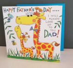 Fathers Day Card - Dad Giraffe - 3D Googly Eyes - Eye Eye