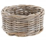 Grey Rattan Chunky Storage Basket - Medium