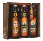 Beer bottle Gift Bag Male - Top Bloke Medium 25cm x 25cm