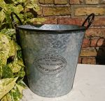 Zinc Metal Tall Garden Planter Badge & Ear Handles
