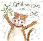 Christmas Card - Kisses From The Cat - Sparkle - Alex Clark