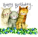 Birthday Card - Cat Three Amigos - Sparkle - Alex Clark