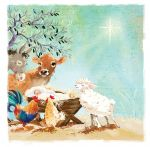 Christmas Card - Around the Manger -  Ling Design