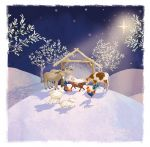 Christmas Card - Magical Night Nativity -  Ling Design