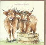 Greetings Card - Ladies Who Lunch - Cows - Friend - Gracie Tapner