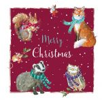 Christmas Card - Woodland Xmas Animals - The Wildlife Ling Design
