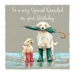Birthday Card - Grandad - Golden Retriever Dog - The Wildlife Ling Design