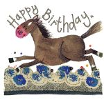 Birthday Card - Galloping Horse - Sparkle - Alex Clark