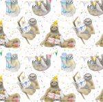 Sloth Party Wrapping Paper Sheets & Tags - Arty Penguin