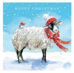 Christmas Card - Warm Winter Wishes Winter Sheep - Ling Design