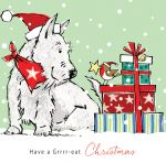 Christmas Card - Grrr-eat Christmas Westie - Xmas Friends Dogs - Ling Design