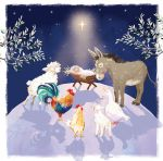 Luxury Boxed Christmas Cards - 12 Cards 3 Designs - Around the Manger Nativity Ling Design