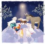 Christmas Card - Animal Nativity Ling Design