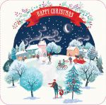 Luxury Boxed Christmas Cards - 12 Cards 3 Designs - Snowy Xmas Ling Design