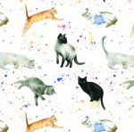 Cat & Kitten Wrapping Paper Sheets & Tags - Arty Penguin