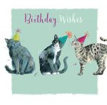 Birthday Card - Cat Purrfect Party - The Wildlife Ling Design