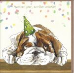 Birthday Card - Another Wrinkle - Party Dog - Gracie Tapner
