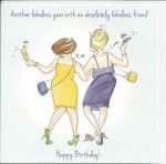 Birthday Card - Fabulous Friend - Glittered - Angie Thomas